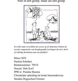 Pabo scriptie Hoogbegaafde leerlingen en hun sociale competentie