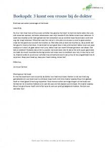 Nederlands leesdossier Havo boekopdracht 3