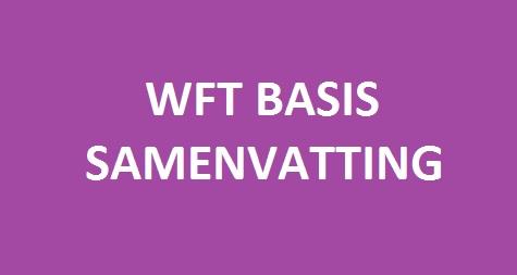 Samenvatting WFT Basis