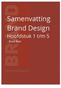 Samenvatting Brand design H1 tm 5