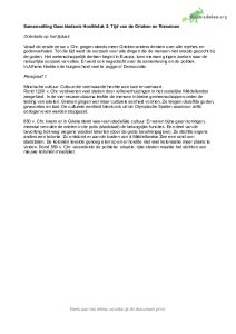 Samenvatting Geschiedenis H2 Feniks