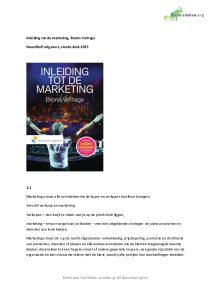 Samenvatting Inleiding tot de marketing