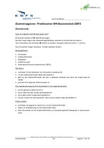 WFT proefexamen basismodule