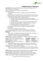 Doing Research I Exam Summary