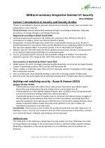 Integrative Seminar III Security Midterm Summary