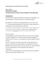 Internet, social media en networks