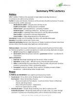 Politics, Power and Governance I Exam Summary