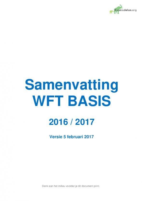 Samenvatting WFT basis 2016 2017