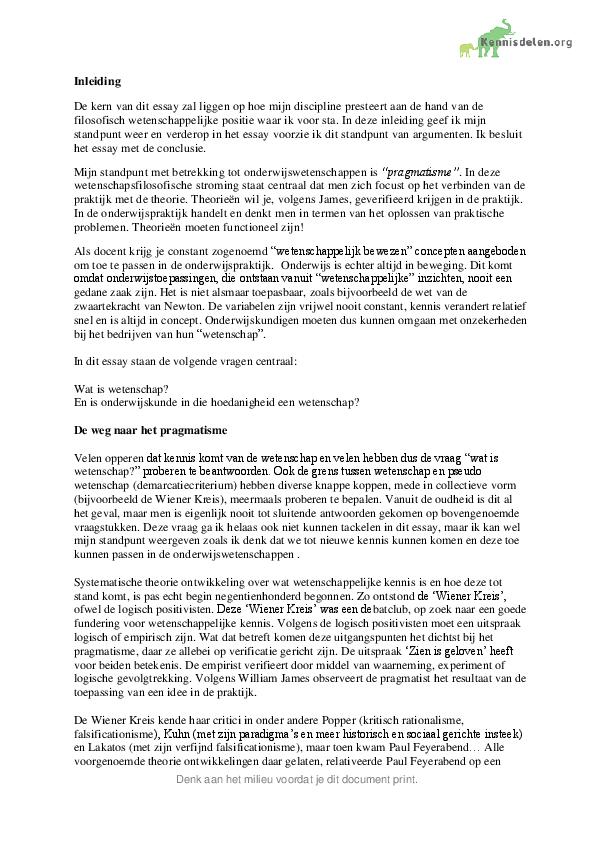 Opbouw essay universiteit