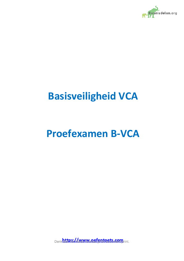 VCA proefexamen