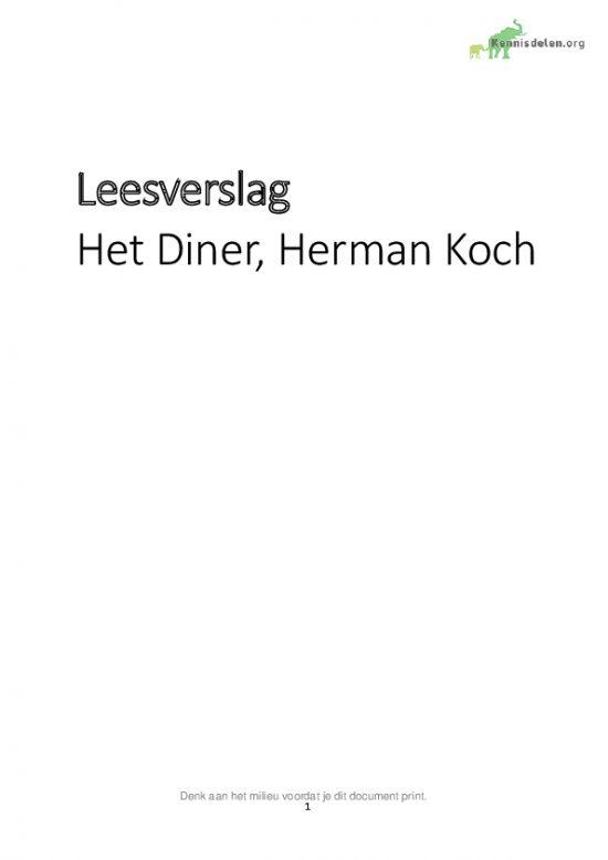 Het Diner Kennisdelen