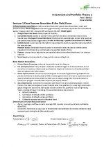 Investment and Portfolio Theory Exam Summary