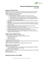 PPLE Money and Banking Exam Summary