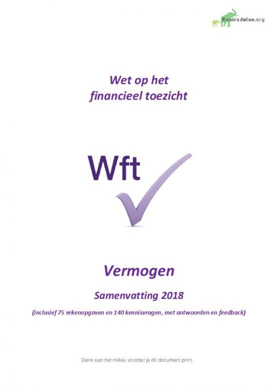 Samenvatting Wft Vermogen 2018, versie september 2018