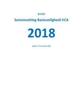 Samenvatting basisveiligheid VCA 2018