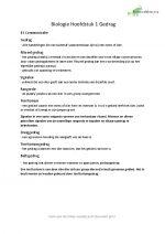 Biologie samenvatting hoofdstuk 1 tot 4 havo