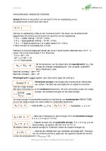 Natuurkunde samenvatting Arbeid en Energie