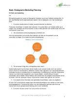 Samenvatting Boek Strategische Marketing Planning H1 t/m H14