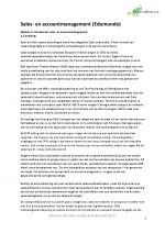 Samenvatting Sales- en Accountmanagement (alle Edumundo Modules)