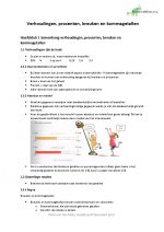 Samenvatting en begrippenlijst 'verhoudingen, procenten, breuken en kommagetallen