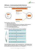 HEP4210 Understanding Health Behaviour