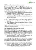 HEP4211 Changing Health Behaviour