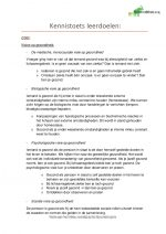 HBO Verpleegkunde blok A complete samenvatting lesdoelen