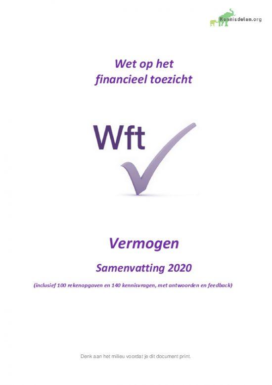 Samenvatting Wft Vermogen 2020, versie april 2020