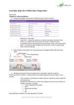 Leerdoelen Moleculaire diagnostiek studietaak 6 en 7