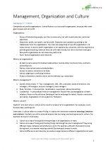 Management, Organisation & Culture
