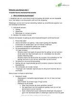 Klinische psychologie deel 1