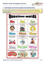 Question words: interrogative pronouns