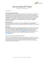 WFT basis samenvatting april 2021 – maart 2022