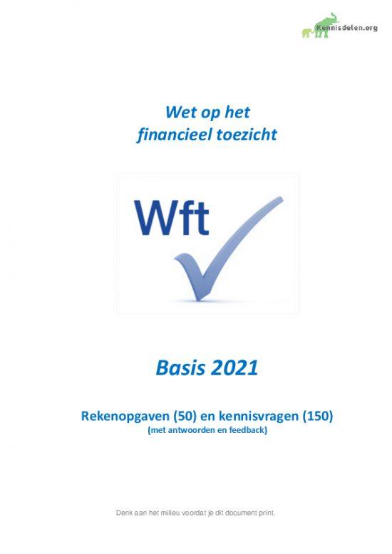 Rekenopgaven en kennisvragen Wft Basis 2021, versie mei 2021