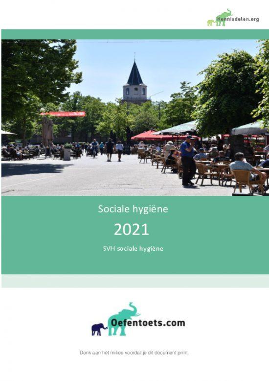 Samenvatting SVH Sociale Hygiene 2021