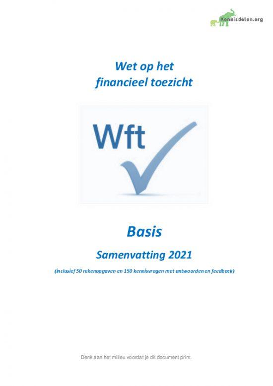 Samenvatting Wft Basis 2021, versie mei 2021